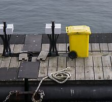 On Sundays, waste bins turn yellow. by Gabriele Maurus