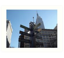Super Bowl Boulevard, Empire State Building, Herald Square, Super Bowl Week, New York City  Art Print
