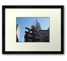 Super Bowl Boulevard, Empire State Building, Herald Square, Super Bowl Week, New York City  Framed Print