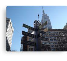 Super Bowl Boulevard, Empire State Building, Herald Square, Super Bowl Week, New York City  Canvas Print