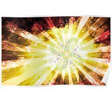 Cosmic Solar Flower Fern Flare 2 Poster