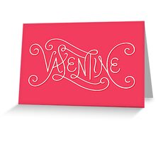 Valentine Lettering (Pink) Greeting Card