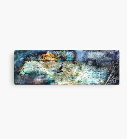 Oil Pelican Canvas Print