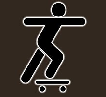 SKATEBOARD, Skateboarder, Skater, Skateboarding, sidewalk surfing, STICK FIGURE Unisex T-Shirt