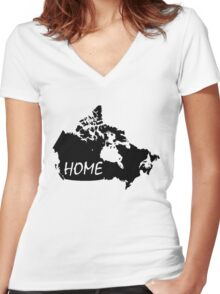 Canada Home Women's Fitted V-Neck T-Shirt