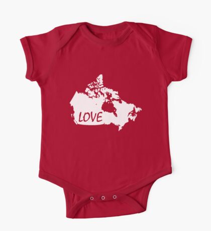 Canada Love One Piece - Short Sleeve