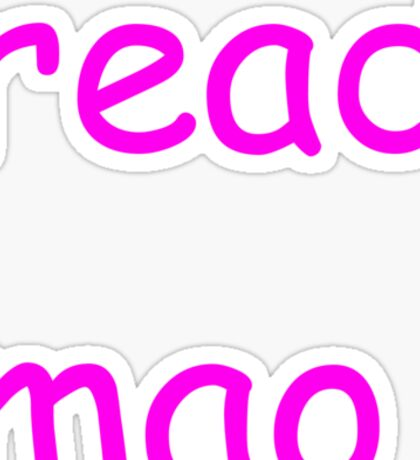 read mao Sticker