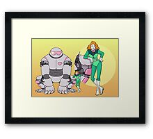 Ness Valentine & Her Robot, Butch Framed Print