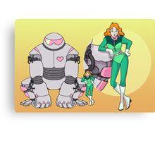 Ness Valentine & Her Robot, Butch Canvas Print