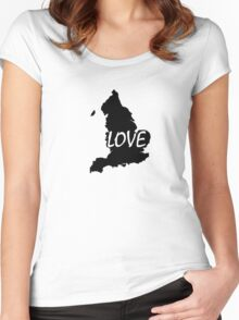 England Love Women's Fitted Scoop T-Shirt