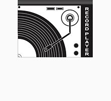 Vintage Record Player (Black & White) Unisex T-Shirt