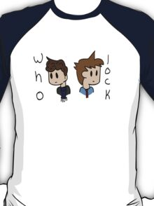 Wholock Sherlock and The Doctor  T-Shirt