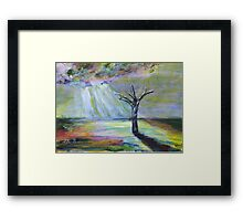 Here comes the rain at last. Framed Print