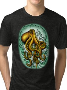 Traditional Octopus Tri-blend T-Shirt