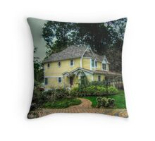 Yellow Victorian LakeFront, Packanack Lake Throw Pillow