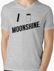 I Love Moonshine Mens V-Neck T-Shirt