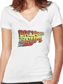 Back To The Gym Women's Fitted V-Neck T-Shirt