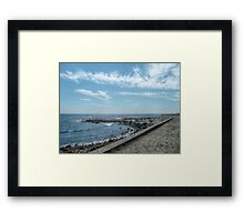 South Most Tip of Aquidneck Island, Ocean Drive Framed Print