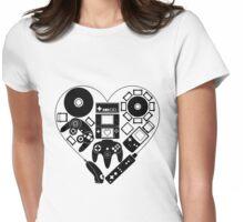 Nintendo Love (Black) Womens Fitted T-Shirt
