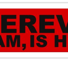 WHEREVER Bumper Sticker - Red Sticker