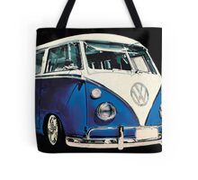 VW Bus Cool Blue Tote Bag