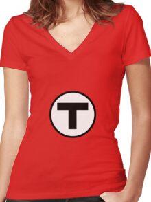 T shirt Women's Fitted V-Neck T-Shirt