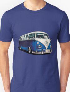 VW Bus Cool Blue Unisex T-Shirt
