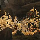 Gold leaf fresco, Grand Palace, Bangkok by indiafrank