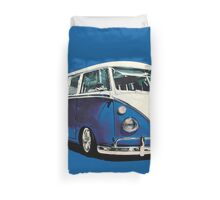 VW Bus Cool Blue Duvet Cover