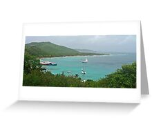 Mustique Bay Greeting Card