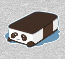 Cute Panda Bar Ice Cream One Piece - Long Sleeve