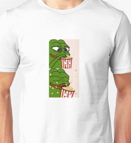 Pepe the Smug Frog Popcorn Unisex T-Shirt