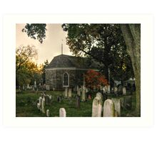 Old Dutch Reformed Church and Burial Ground, Sleepy Hollow, NY Art Print