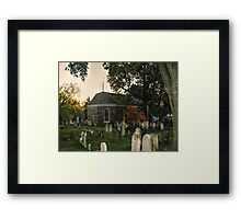 Old Dutch Reformed Church and Burial Ground, Sleepy Hollow, NY Framed Print