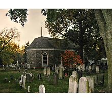 Old Dutch Reformed Church and Burial Ground, Sleepy Hollow, NY Photographic Print