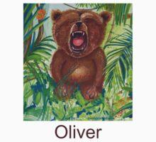 Oliver Bear roaring like a lion Kids Tee