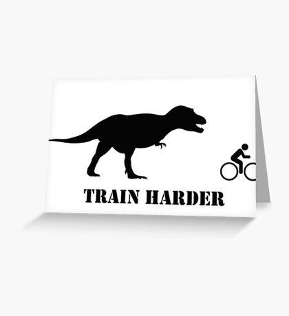 T-Rex Bike Training Greeting Card