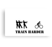 Zombie Bike Training Canvas Print
