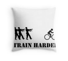 Zombie Bike Training Throw Pillow