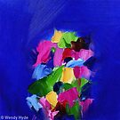 Intense Blue with Pink by wendyhyde