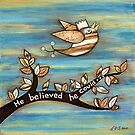 He Believed He Could by Lisa Frances Judd~QuirkyHappyArt