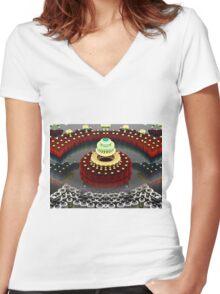 Seven Layer Dream Cake Women's Fitted V-Neck T-Shirt