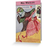 Alison Fyfe Miss White-eye Card Greeting Card