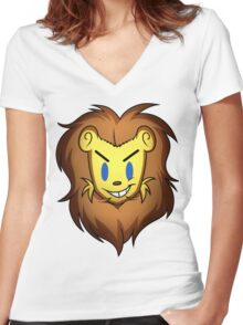 Clash the Lion Women's Fitted V-Neck T-Shirt