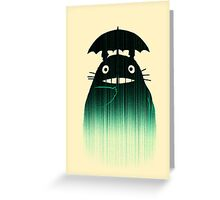 Waiting for you in the rain Greeting Card