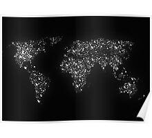 World map city light Poster