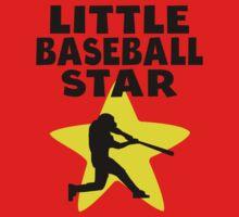 Little Baseball Star One Piece - Short Sleeve
