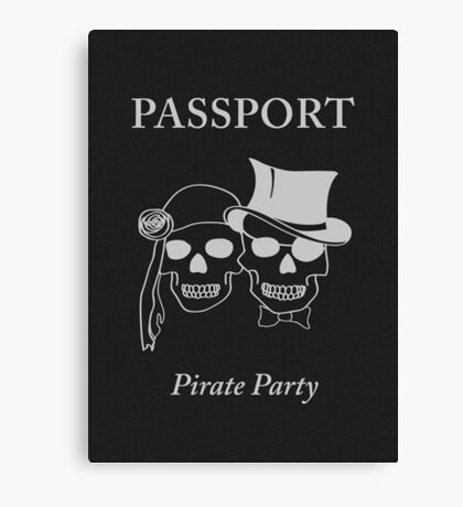 pirate party passport Canvas Print