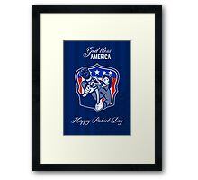 God Bless America Happy Patriot Day Poster Framed Print
