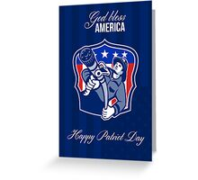 God Bless America Happy Patriot Day Poster Greeting Card